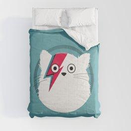 Cat Hero White Comforters