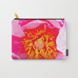 Peony Macro Illustration Carry-All Pouch