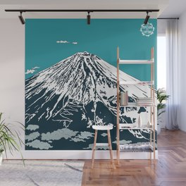 Mount Fuji from the Sky Wall Mural