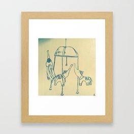 Le manege Framed Art Print