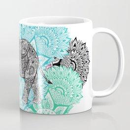 Boho paisley elephant handdrawn pastel floral Coffee Mug