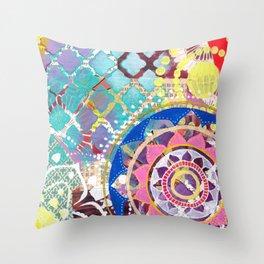 Mixed Media Mandala Throw Pillow
