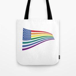 United States Rainbow flag Tote Bag