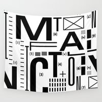 metal Wall Tapestries featuring METAL FICTION by cmyka