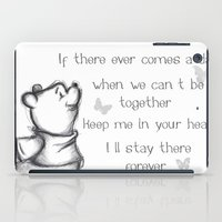 pooh iPad Cases featuring Insightful Pooh by Makayla Wilkerson
