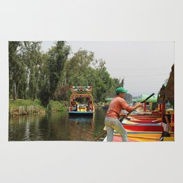 Xochimilco Along the Canal Rug