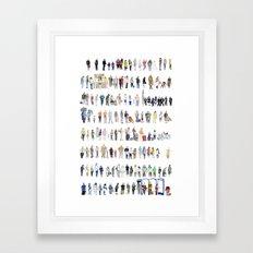 Major Queuing Framed Art Print