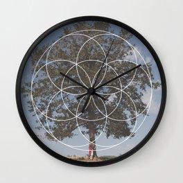 Free Tree Hugs - Geometric Photography Wall Clock