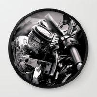 moto Wall Clocks featuring moto by Farkas B. Szabina