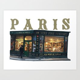 Paris Corner Shop Art Print