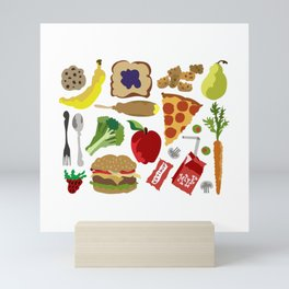 School Lunch Mini Art Print