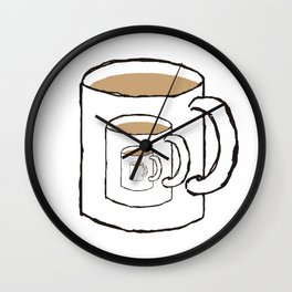 Existential Mug Wall Clock