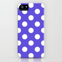 Majorelle blue - blue - White Polka Dots - Pois Pattern iPhone Case