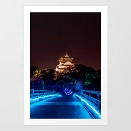 Magic Osaka Night. Japan in June 2019 Art Print