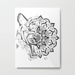 Tiger | Mandala Metal Print