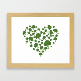 I Love Broccoli Framed Art Print