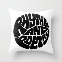 rap Throw Pillows featuring Rap by guissëpi