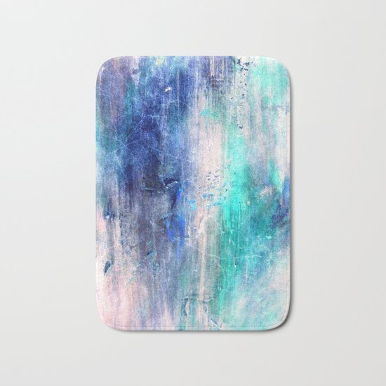 Winter Abstract Acrylic Textured Painting Bath Mat