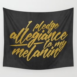 MELANIN PLEDGE Wall Tapestry