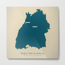 Modern Map - Baden-Wuerttemberg DE new design refreshed Metal Print