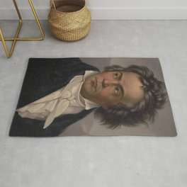 Vintage Portrait of Ludwig van Beethoven (1870) Rug