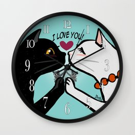 Love you cats Wall Clock