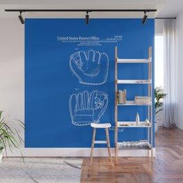 Baseball Glove Patent - Blueprint Wall Mural