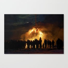 Easter full moon - the winter is over Canvas Print