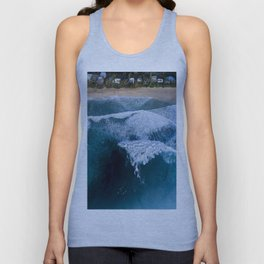 The waves at Banzai Pipeline - Oahu, Hawaii Unisex Tank Top