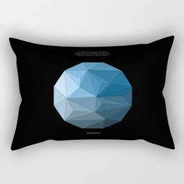 Continuum black Rectangular Pillow