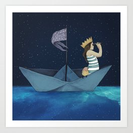 Night Adventure  Art Print