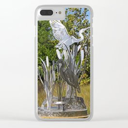 A Heron in the Glen- vertical Clear iPhone Case