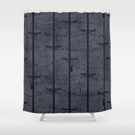 Telephone Poles - DUSK Shower Curtain
