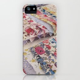 Sewing Liberty Print Patchwork iPhone Case