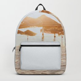 Golden hour beach Backpack