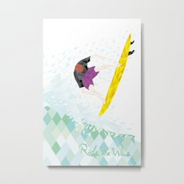The Surfer Metal Print