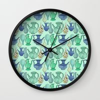 persian Wall Clocks featuring Persian Pots by Katie L Allen