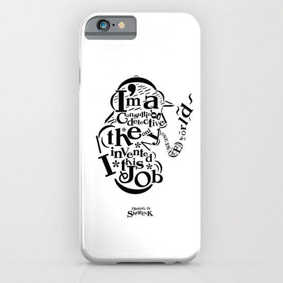 Sherlock Goes Typography (Holmes, Watson) iPhone & iPod Case