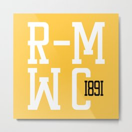 R-MWC (yellow 2) Metal Print