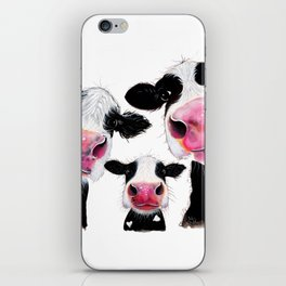 CoW PRiNT ANiMaL PRiNT ' THe NoSeY FaMiLY ' BY SHiRLeY MacARTHuR iPhone Skin