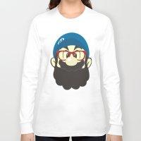 mario Long Sleeve T-shirts featuring Mario bro by Beardy Graphics