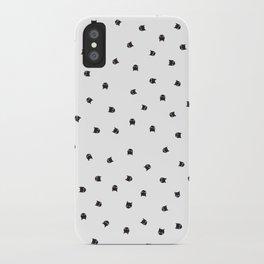 Black Cats Polka Dot iPhone Case