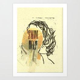 Swim Deep Art Print
