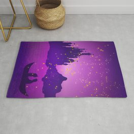 Castle with Lanterns Rug