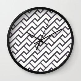 Monochrome Intricate Pattern Delta Wall Clock