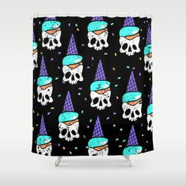 skull icecream Shower Curtain