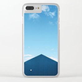 Blue Sky Over the Queensferry Marina Roof Clear iPhone Case
