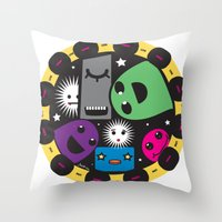 poker Throw Pillows featuring poker by justine