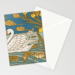 Swans L'animal Dans La Decoration Retro Art Stationery Cards