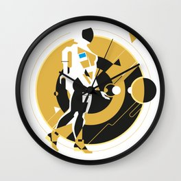 space girl, astronaut girl in space, concept illustration, science fiction Wall Clock